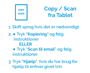 Copy / scan fra tablet