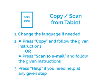 Instructions for copy and scan solution