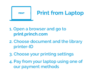 Printing instructions from laptop