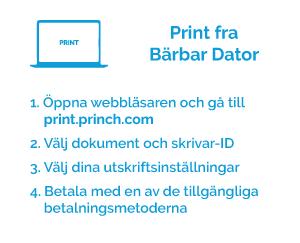 print fra bärbar dator