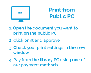 Printing instructions from a public computer