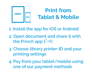 Printing instructions from tablet and mobile