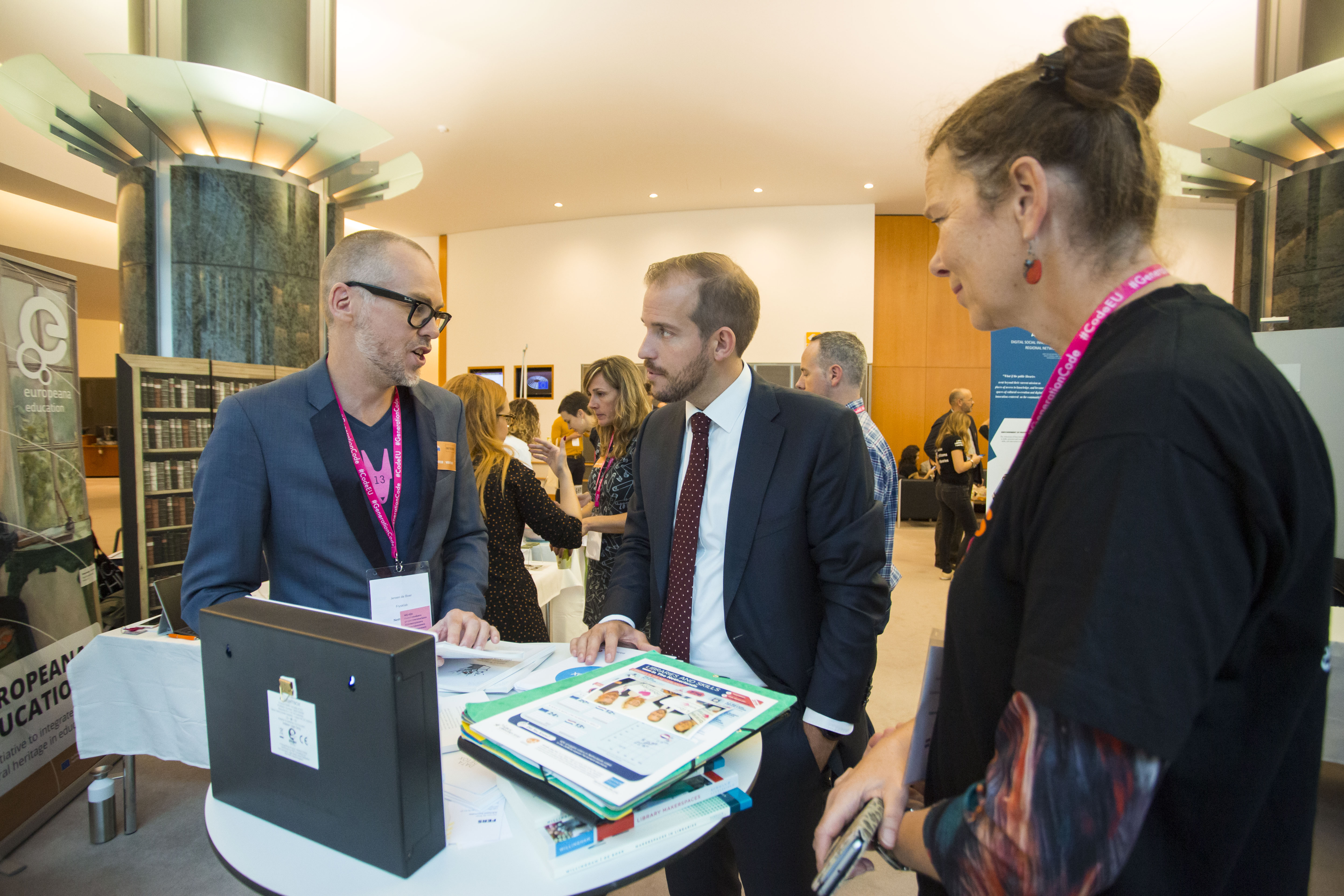 "08 Oct 2019 - Brussels, Belgium - Event ""Generation Code: Born at the Library"" 2019. © Bernal Revert/ BR&U"