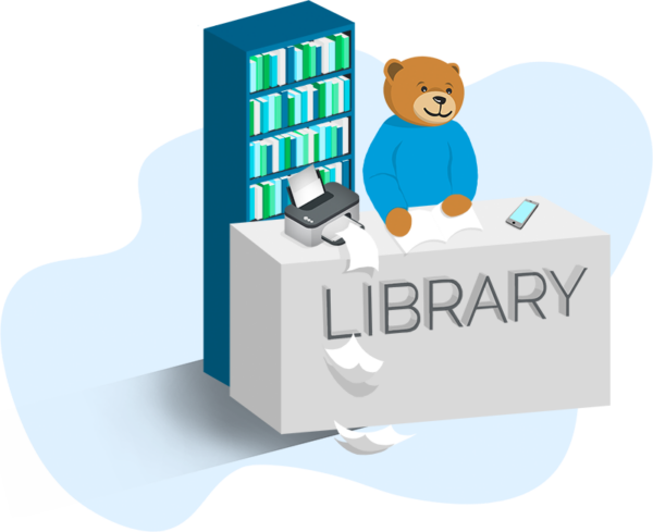 Printing software for libraries