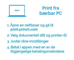 print fra bærbar PC