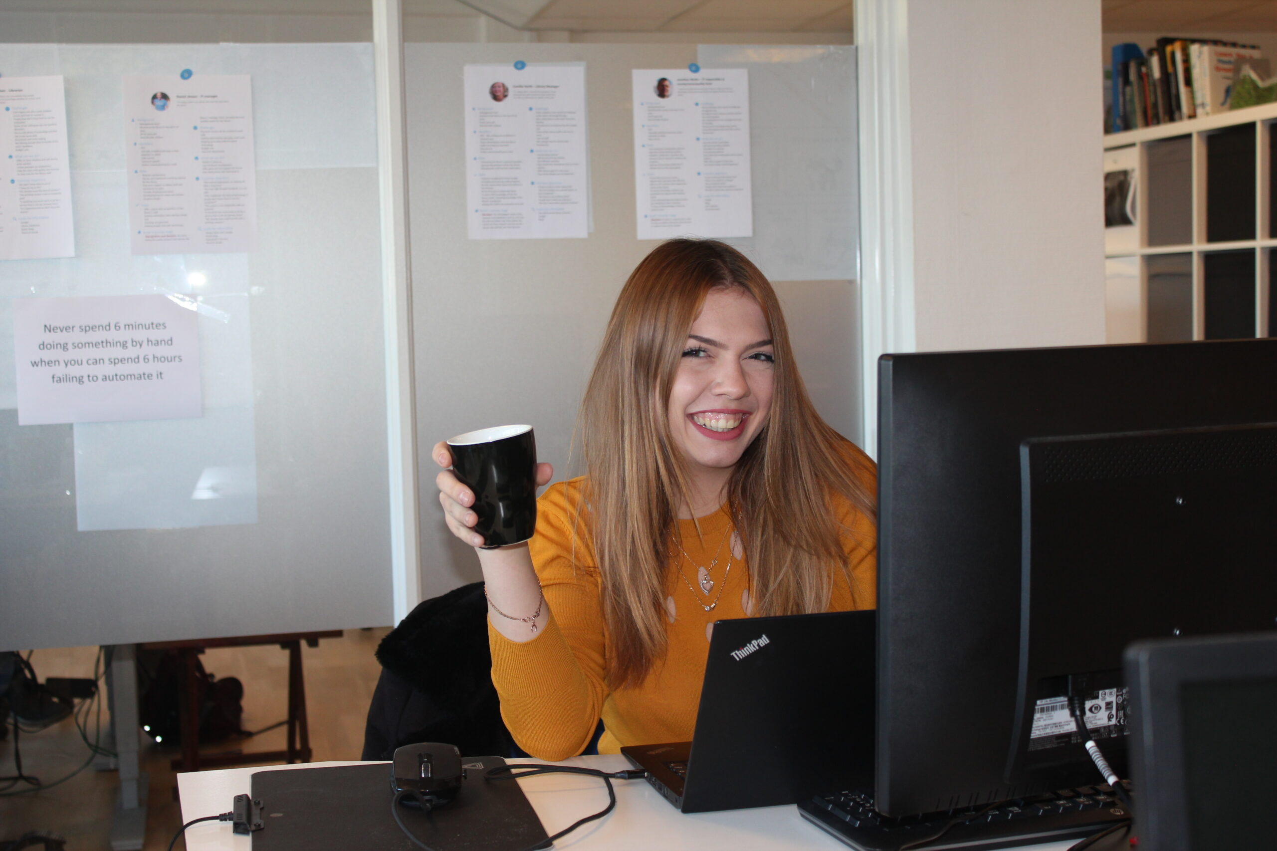 Daniela And Her Coffee Smile